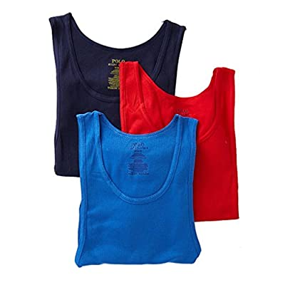 Cheap Polo Ralph Lauren Classic Fit 100% Cotton Tanks - 3 Pack (LCTKH3)