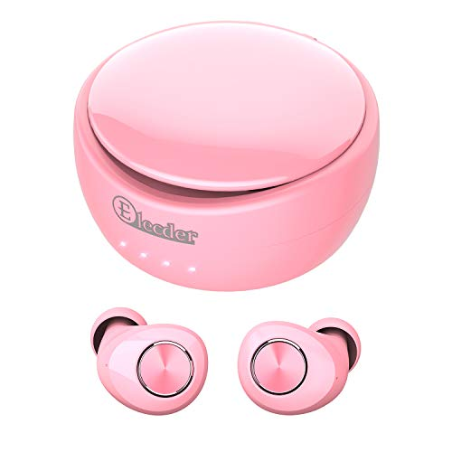 Elecder D11 True Wireless Earbuds Bluetooth 5.0 Headphones in Ear with Microphone, Charging Case for Workout,Running in-Ear Headphones(Pink)