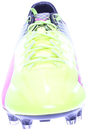 Puma Evospeed 5.4 Fg Jr, Scarpe da calcio uomo 42,5 EU rosa fluo, giallo, nero (Pink Glow, Safety Yellow, Black)