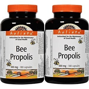 Value Pack- Holista Bee Propolis 500 mg 200 capsules (pack of (Canada 200 Capsules)
