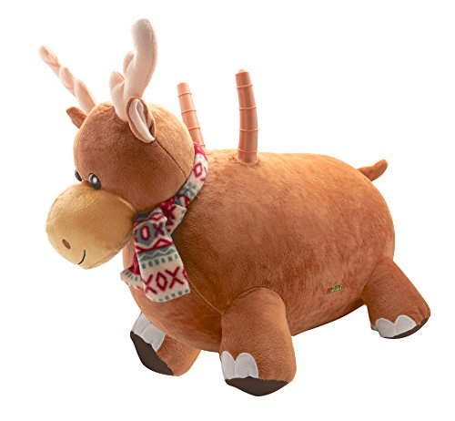 WALIKI Toys Bouncy Horse Hopper Reindeer (Hopping Horse, Inflatable Ride-On Pony, Ridding Horse for Kids, Jumping Horse, Pump Included)