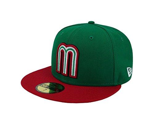 New Era 59Fifty Hat Mexico World Baseball Classic (WBC) 2017 Fitted Headwear Caps (7 3/8, ()