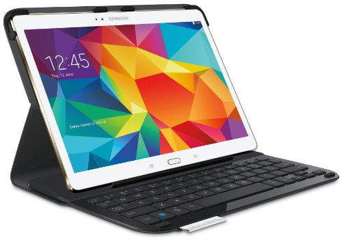 Logitech 920-006401 Type S Folio Keyboard Case for Samsung Galaxy Tab S 10.5 - Black (Keyboard For Samsung Galaxy Tab S)