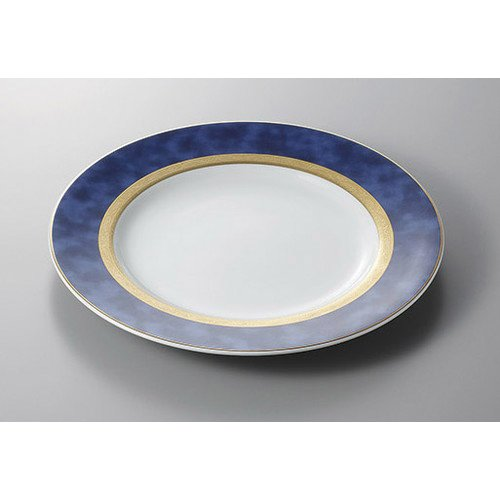 Service plate Athene Blue 12 inch chop [30.5 x 3 cm] Ryotei Ryokan Japanese food machine restaurant business use