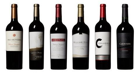 Coast to Valley Cabernet Sauvignon Tasting Flight Wine Mixed Pack, 6 x 750 mL