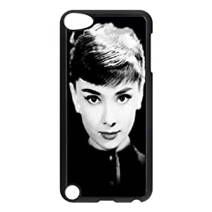 D-PAFD Customized Print Audrey Hepburn Pattern Hard Case for iPod Touch 5