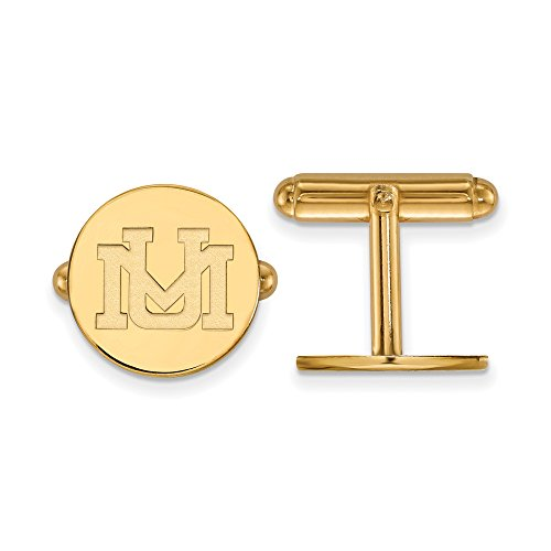 Montana Cuff Links (14k Yellow Gold) by LogoArt