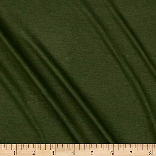 Lavitex Rayon Jersey Knit Solid Fabric, Olive Army, Fabric By The Yard