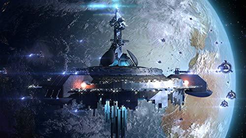 - WholesaleSarong Orbital sci fi Space Station Spacecraft Art Poster Indoor Wall Art Wall