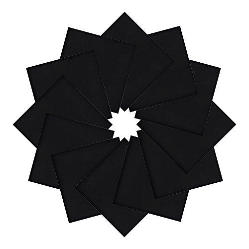 Black Cotton Bandana (Alotpower Solid Color Bandanas Cotton Headband Multifunctional Handkerchief,Black)
