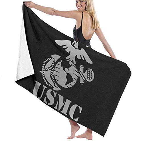Eagle Globe Anchor USMC Marine Corps Luxury Hotel And Spa Bath Towels, Beach Towel Large Beach Blanket Towel - Ultra Soft Super Water Absorbent Multi-Purpose Beach Throw Oversized 31.5