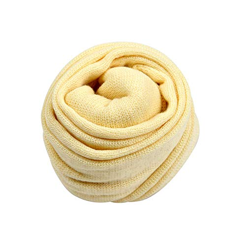 Coberllus Newborn Baby Photo Props Blanket Stretch Knitted Wrap Swaddle for Boy Girls Photography Shoot (Beige)