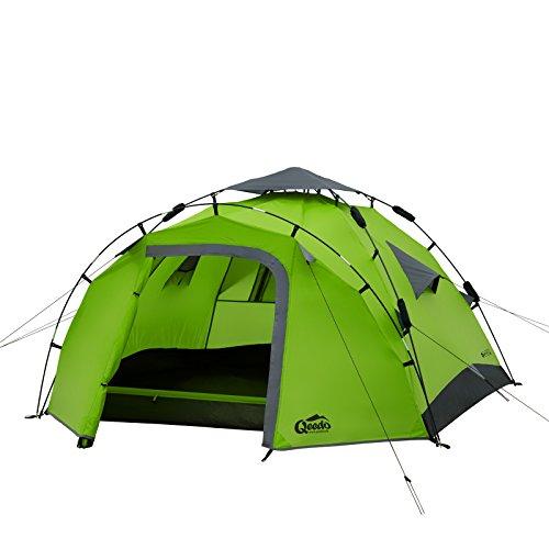 Qeedo Quick Pine 3 Campingzelt, Sekundenzelt (Quick-Up-System)