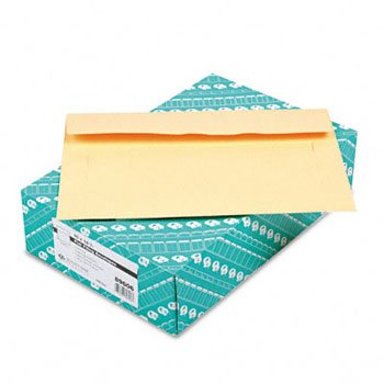 Quality Park 89606 Filing Envelopes, 10 x 14 3/4, 3 Point Tag, Cameo Buff, 100/Box