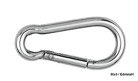 en Acier galvanis/é ou Acier Inoxydable Porte-cl/és Mousqueton//Mousqueton Pompier diff/érentes Tailles