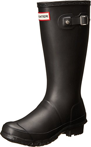 (Hunter Kids Original Black Rain Boot - 5)