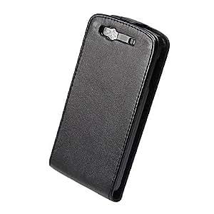 Elegant PU Leather Full Body Flip Case Cover for Samsung Wave 3 S8600-Black --- COLOR:Black