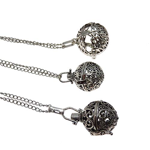 - Vintage Style Harmony Ball Fragrant Diffuser Aromatherapy Necklace 27.5 Chain