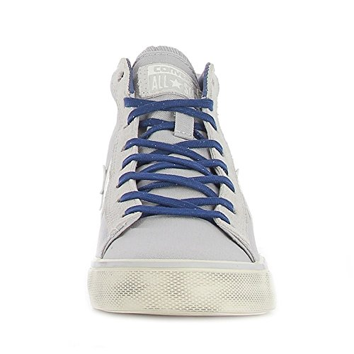 Converse 156799C Pro Leather Vulc Mid Canvas, sneaker unisex, ASH GREY/TURTLE DOVE/NAVY