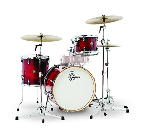 Gretsch Drums Gretsch CT1-J403-GCB Catalina Club 3 Piece Shell Pack 14×20 Bass, 8×12 Suspended, 14×14 Floor Tom Gloss Crimson Burst, inch (