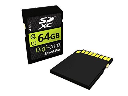Digi-Chip 64GB CLASS 10 SDXC Memory Card for Samsung WB150F, WB850F, WB250F, WB800F, WB1100F, WB2200F, NX20, NX210, NX1000, NX300, NX1100, NX30, EX2F and Galaxy NX Digital Camera (Best Price Samsung Nx300)