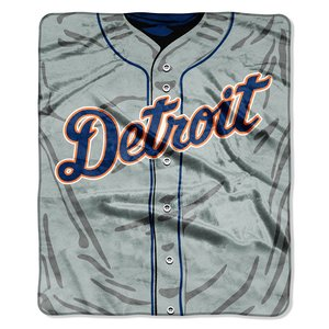 - MLB Detroit Tigers Jersey Plush Raschel Throw, 50
