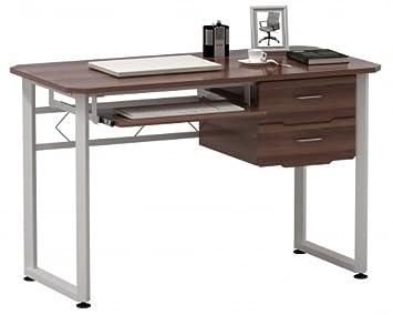 Hjh office table d ordinateur bureau workflow noyer blanc