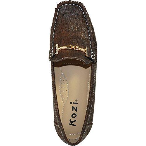 Kozi Women Comfort Shoe Oy6284_brown Con Una Punta Quadrata Rotonda 38m