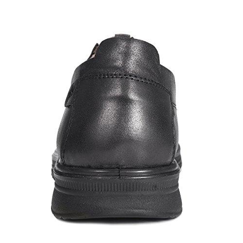 Gracosy Slip-on Shoes, Uomo Cuciture In Microfibra Pelle Antiscivolo Scarpe Casual Da Passeggio Mocassino Nero