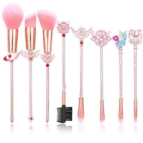 Chipsua Cute Cardcaptor Sakura Makeup Brushes Set Cosmetic Powder Foundation Eyeshadow Brush Kits Make Up Tool Metal Make-Up Brush - Jlo Womens Metal