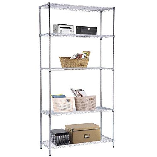5 tier chrome wire shelving unit - 9