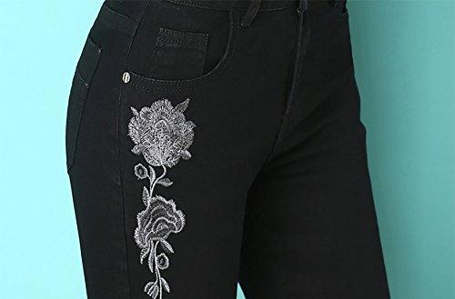 Vita Taglio A Jeans Da Campana Svasati E Nero Mena Bassa Donna Con UwXqHw4f