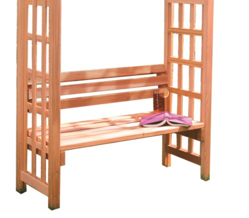 Arboria Arbor Garden Seat Cedar Wood 42 Inches Wide With (Cedarwood Arbor)