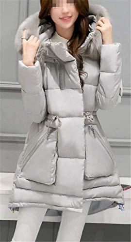 Femme Style Parka Chaud avec lgant Outdoor Manteau Doudoune Hiver Longues Grau Doudoune Quilting Capuchon paissir Blouson Spcial Fourrure Parka Hiver Fit Slim Facile Oversize 4rR4xqw