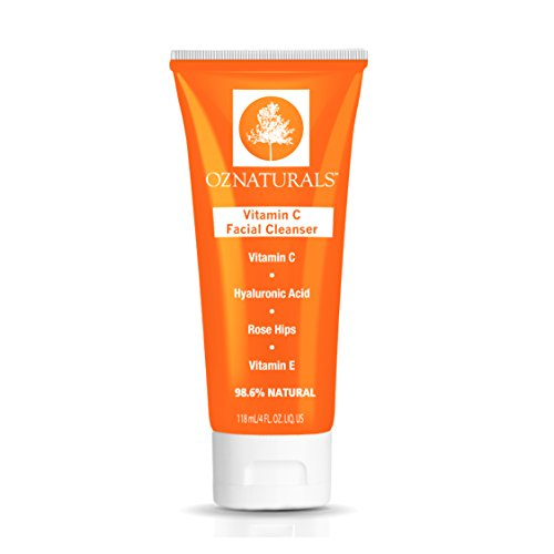 OZNaturals Vitamin C Facial Cleanser - The Most Effective Anti Aging Face Wash + The Natural Skin Care Solution For Clean Pores And A Healthy, Radiant Glow. 98% Natural, 4 oz. tube by OZ Naturals