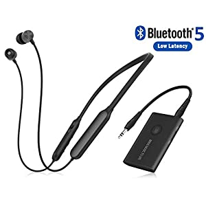 Giveet Wireless Headphones for TV Watching w/Bluetooth Transmitter, Support RCA, AUX 3.5mm Audio Out, High Volume…