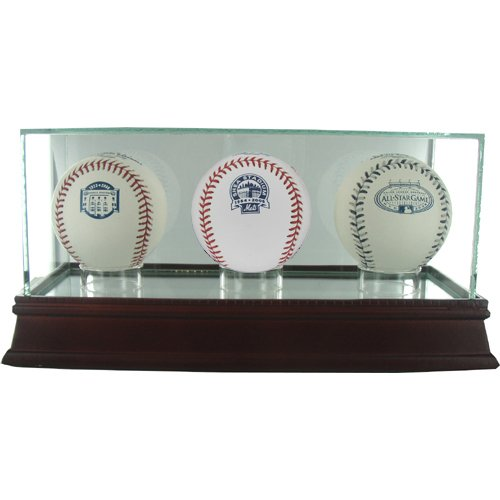(Steiner Sports MLB Glass Triple Baseball Case)