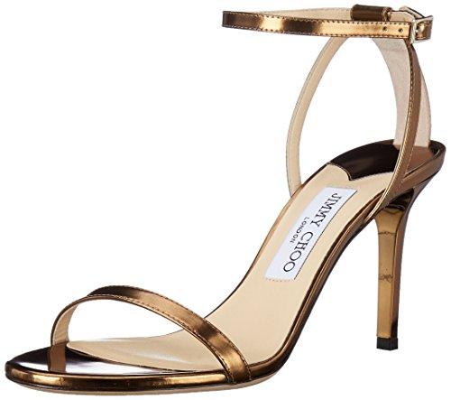 Jimmy Choo Gold Sandals (JIMMY CHOO Women's Minny Sandal, Gold, 39 M EU/9 M US)
