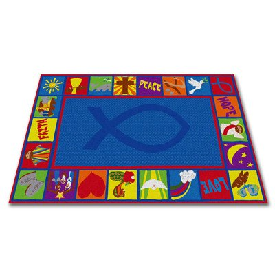 Kid Carpet Bible Square Christian School Rug, 7'6'' x 12' by Kid Carpet