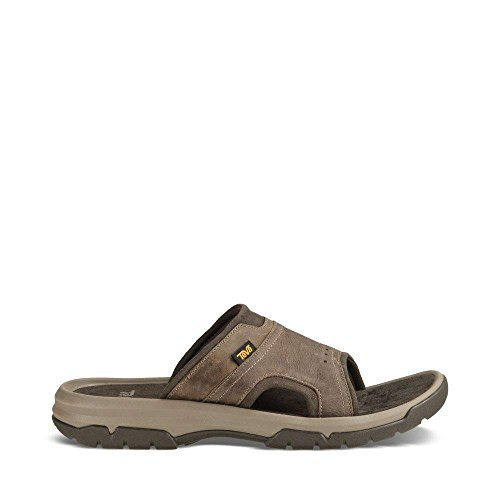 Teva Men's M Langdon Slide Sandal, Walnut, 11 M US (Slides Casual Leather)