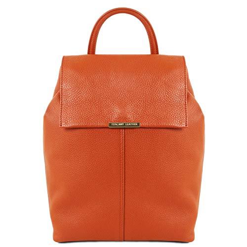 Tuscany Pelle Tlbag In Morbida Donna Leather Rosso Brandy Zaino z7FTaw