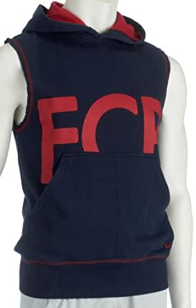 Nike Men's FCB Football Hooded Sleeveless Pullover Top M Navy-Red