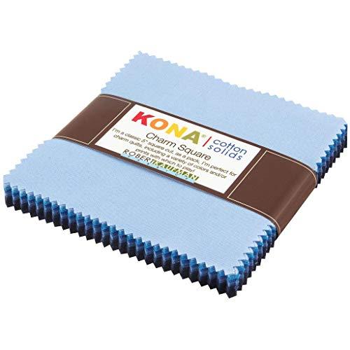 Robert Kaufman Kona Cotton Solids Dusk to Dawn Charm Pack, 42 5-inch Cotton Fabric Squares
