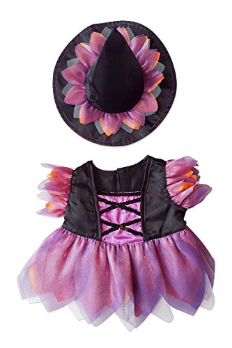 Bear Halloween Outfit (Stuffems Toy Shop Halloween Witch Custome Teddy Bear Clothes Outfit Fits Most 14
