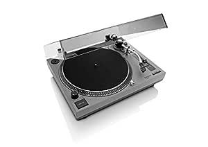 Lenco L-3808 - Tocadiscos (Tocadiscos de tracción Directa, Negro, Gris, 33,45 RPM, Corriente alterna, 11 W, 5,36 kg)