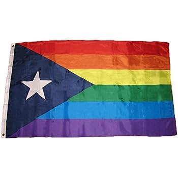 Amazon.com: Puerto Rico Bandera de Arco Iris tradicionales ...