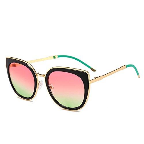 mujer de negra Gafas para rosa sol Back Packers Lente verde 7XwxRR