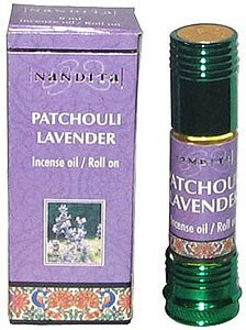 Patchouli Lavender - Nandita Incense Oil/Roll On - 1/4 Ounce Bottle