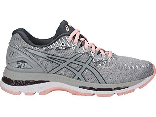 Medium Grey 20 Carbon Gel Black Seashell ASICS US White Mid Pink 12 Women's Mid Nimbus Shoes Running Grey xtZ44nvw8q
