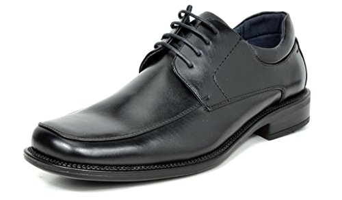 Bruno MARC Men's Classic Square Toe Lace Up Dress Oxford Shoes
